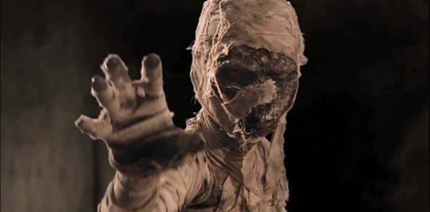 Depiction of a mummy from a modern ad.