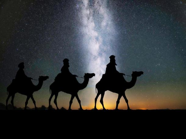 Depiction of The Magi following the star in search of baby Jesus. (Kevin Phillips / Public domain)