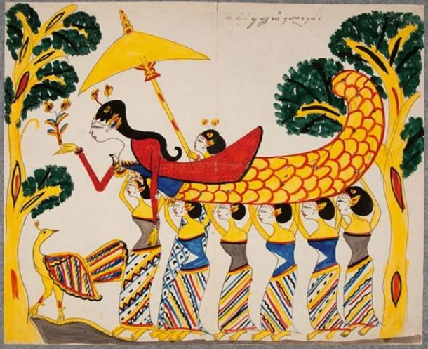 Depiction of Nyi Blorong (circa 1928) National Museum of World Cultures (Public Domain)