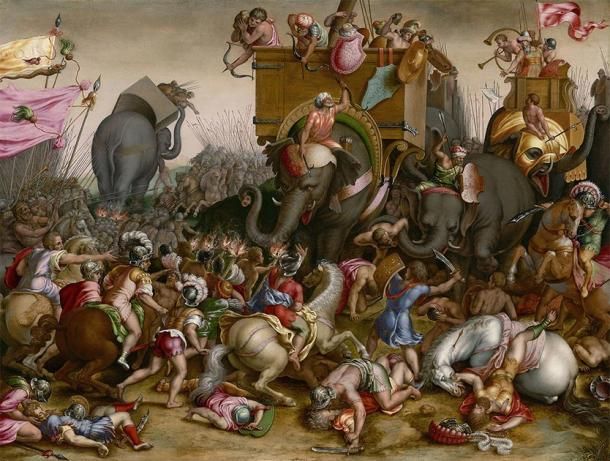 Depiction of Hannibal and the Carthaginians fighting in battle. (Art Institute of Chicago / Public domain)