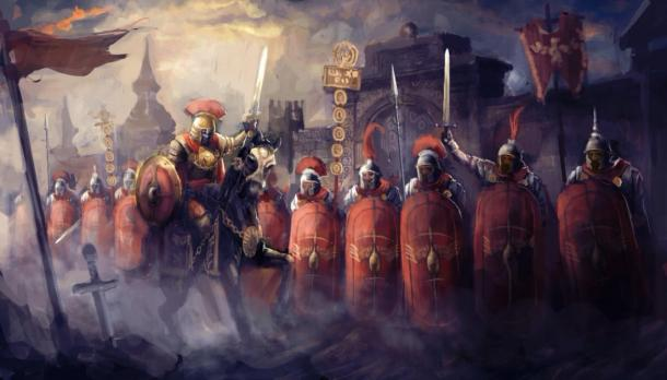 Depiction of a Roman army before battle. (vukkostic / Adobe stock)