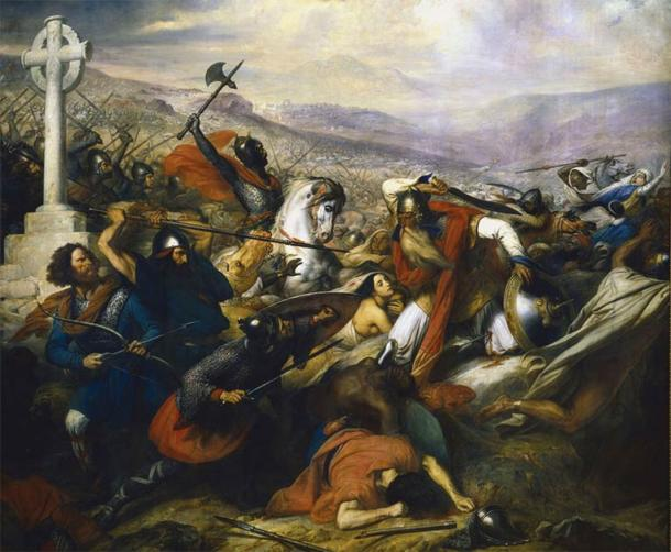 Depiction of the Battle of Tours. (Charles de Steuben / Public domain)