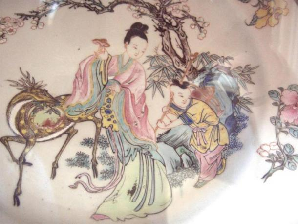 Depiction of the goddess Xiwangmu, the Queen Mother of the West. (Dr. Meierhofer / CC BY-SA 3.0)