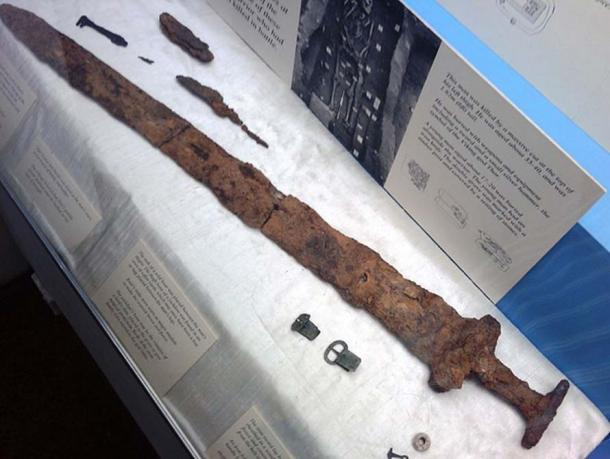 Derby Museum Viking Sword found in Repton.
