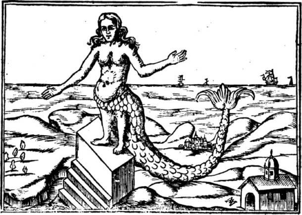 Derceto, from Athanasius Kircher, Oedipus Aegyptiacus, 1652. (Public Domain)