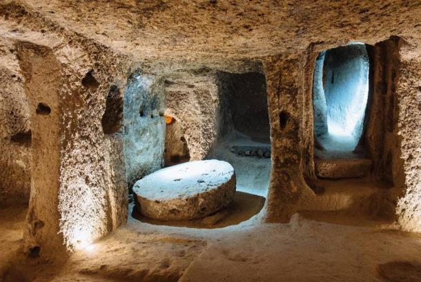 Derinkuyu underground city in Cappadocia, Turkey