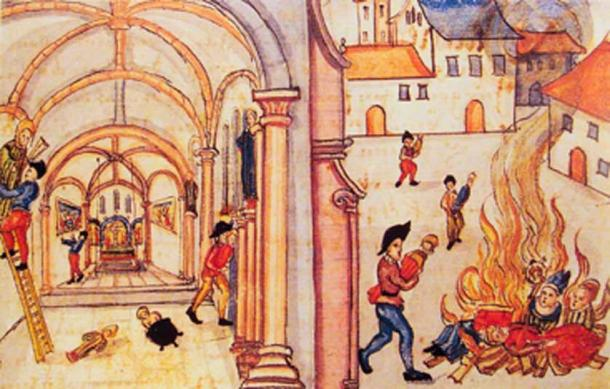 Destruction of religious images by the Reformed in Zurich, 1524. (Uploadalt / Public Domain)