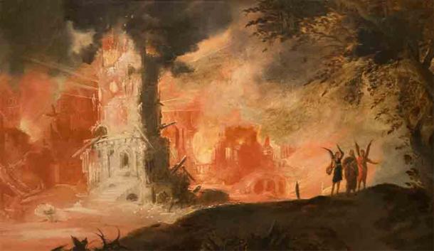 """The Destruction of Sodom and Gomorrah"" by François de Nomé (called Monsù Desiderio), 1593 AD"
