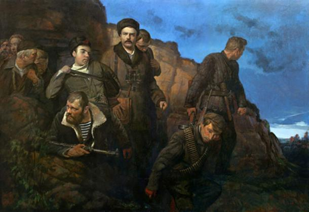 Detachment of Molodtsov near Odessa Catacombs. (CC BY SA 4.0)
