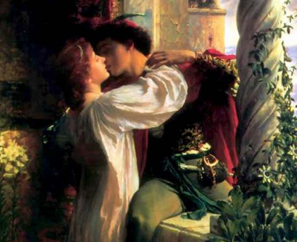 Detail of Romeo and Juliet by Frank Dicksee