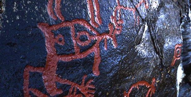 Detail of a carving at Glösa rock art center. (Glösa rock art center)