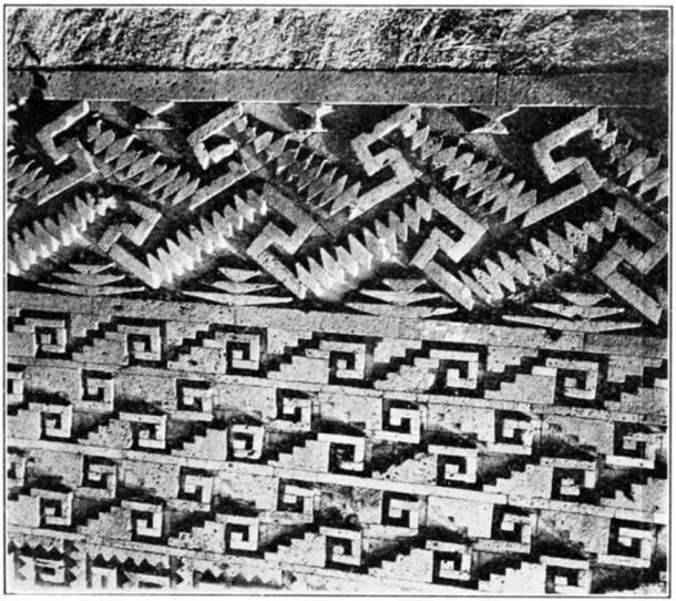 Detail of an ancient Zapotec mosaic