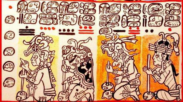 Detail of the Dresden Codex as redrawn by Lacambalam