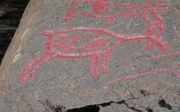 Detail of the Glösa rock art. (Britt-Marie Sohlström/ CC BY NC ND 2.0)