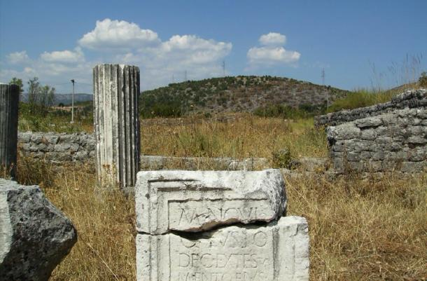 Detail of a Roman inscription, Doclea     Source: Bazovic, V / CC BY-NC-NC 2.0