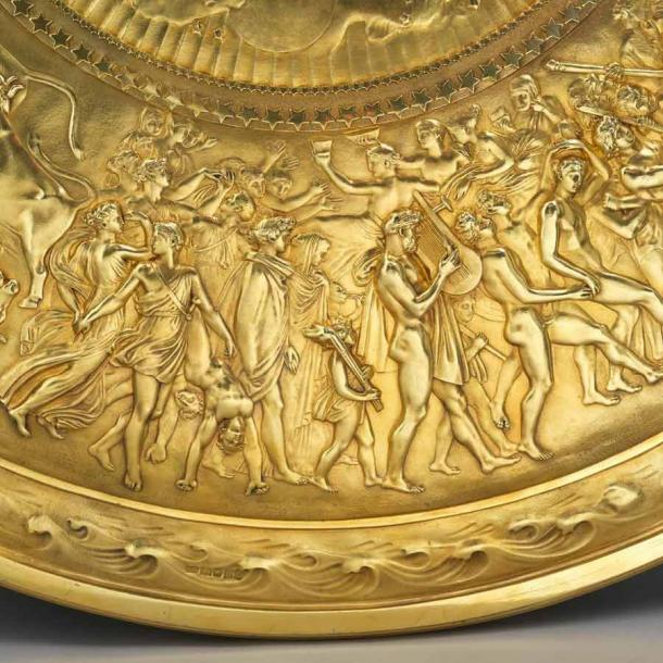 Detail of one of the outer circle on the Shield of Achilles, 1823. (koopman rare art)