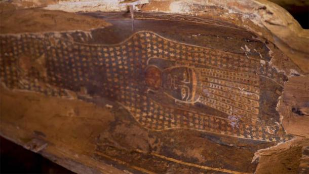 Detail of one of the coffins discovered at Saqqara. (Egyptian Ministry of Tourism and Antiquities)