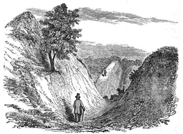 Devil's Dyke circa 1853 (public domain)