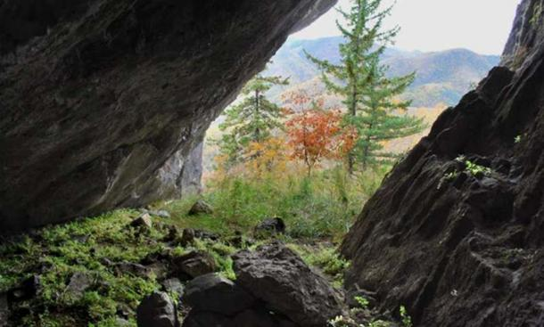 View from the interior of Devil's Gate Cave.