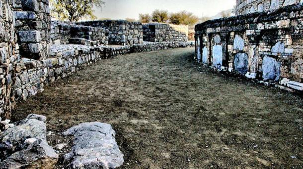 A section of the Dharma Rajika Stupa - remains of a 300 BC