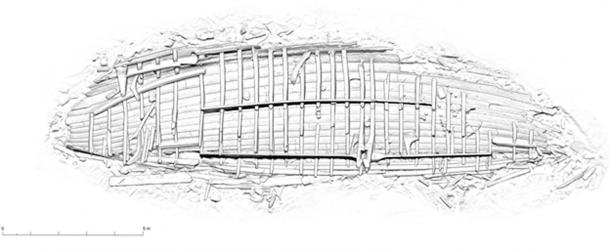 Diagram of Viking shipwreck. (Massimiliano Ditta)