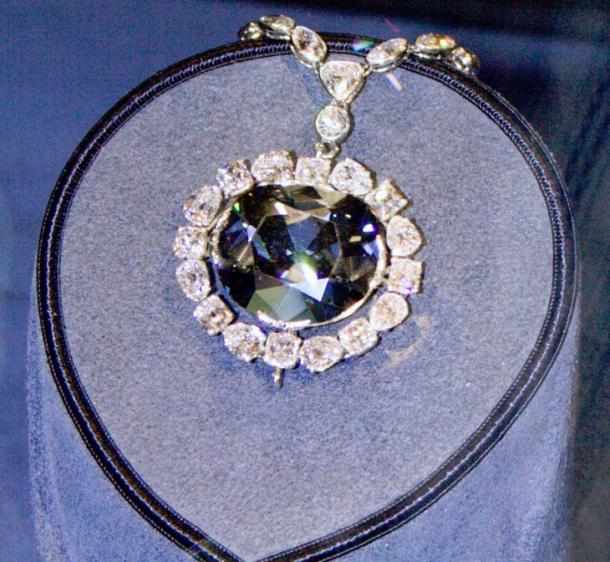 The Hope Diamond in the National Museum of Natural History