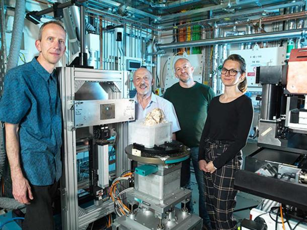 The Diamond Light Source team, which provided breakthrough scanning for the recently published Little Foot study. (Diamond Light Source)