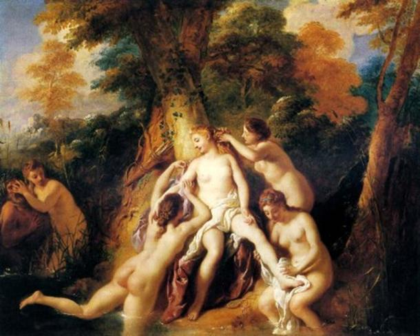 'Diana And Her Nymphs Bathing' (1722-1724) by Jean-François de Troy. (Public Domain) Diana was the Roman adaptation of Artemis.