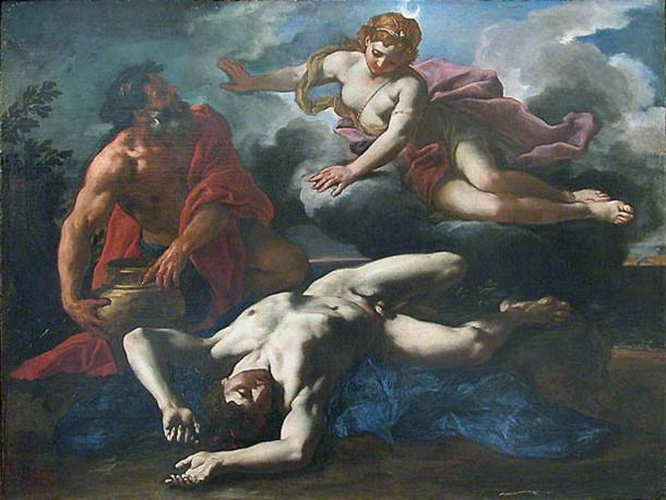 'Diana over Orion's corpse' (1685) by Daniel Seiter. (Public Domain)