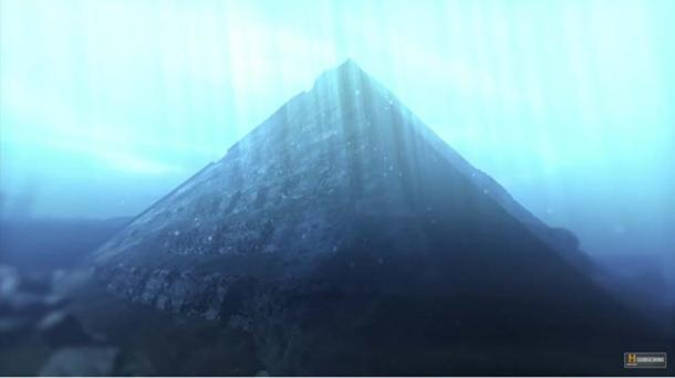 Digital reconstruction of a pyramid submerged in Fuxian Lake, China.