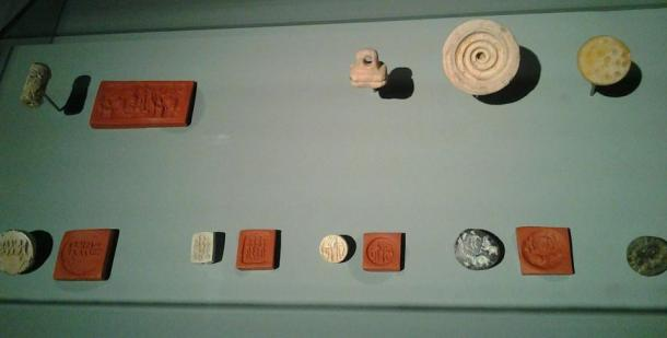 A collection of Dilmun seals, Bahrain National Museum