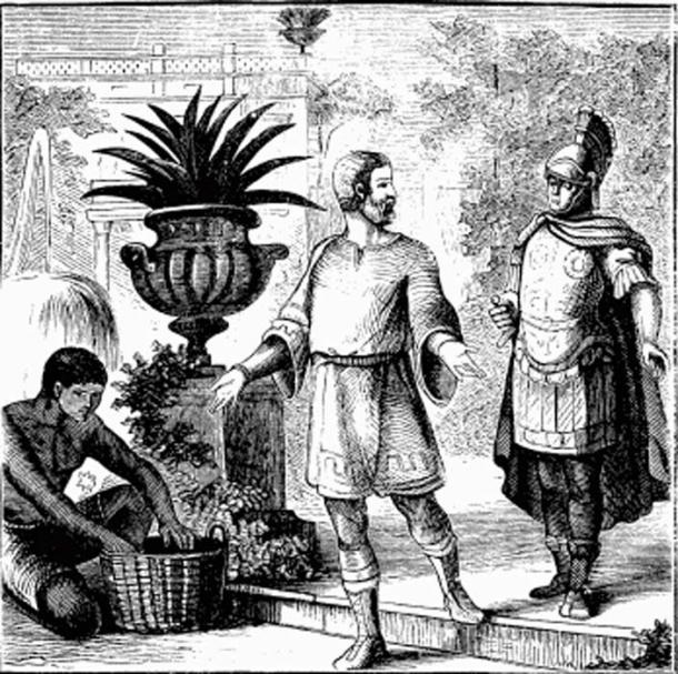 Diocletian in retirement. (Public Domain)