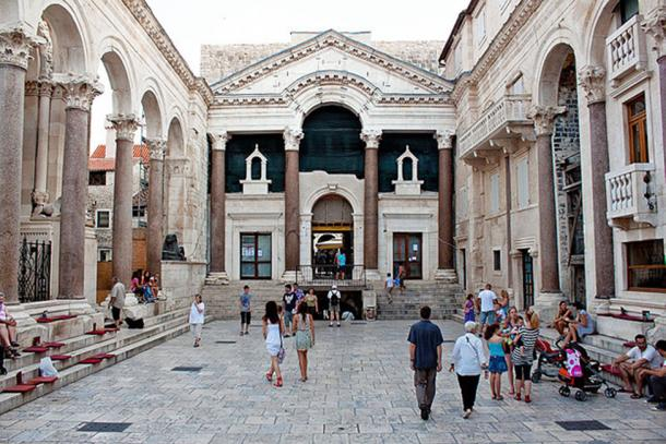Diocletian's Palace was built by the Roman Emperor Diocletian at the turn of the 4th century AD. Today the structure forms about half the old town and city center of Split, Croatia.