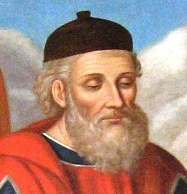 Diodorus Siculus as depicted in a 19th-century fresco.