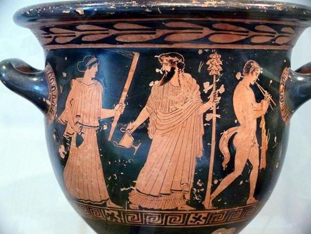 Dionysus with Thrysus Spear.