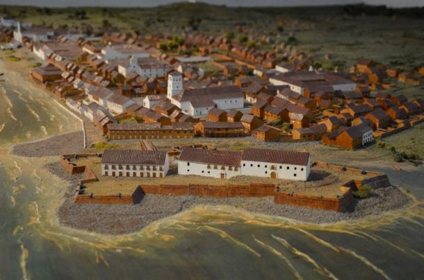 Diorama of Panamá Viejo