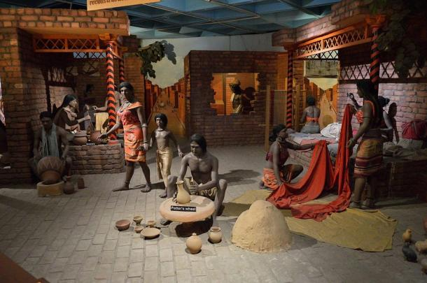 Diorama reconstruction of everyday life in Indus Valley Civilization, New Delhi.