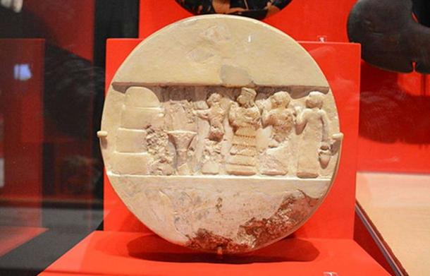 """The """"Disk of Enheduanna"""" at the Penn Museum in Philadelphia."""