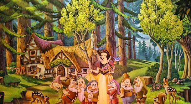 Disney - Snow White And Seven Dwarfs Mural.