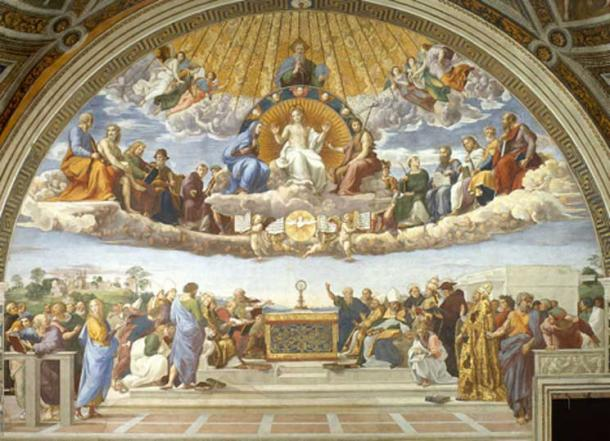 Disputation of Holy Sacrament (1509-1510) by Raphael.