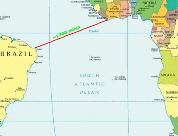 Distance to Brazil. (Author provided)