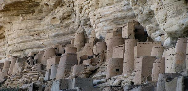 Dogon Cliff Dwellings in Africa