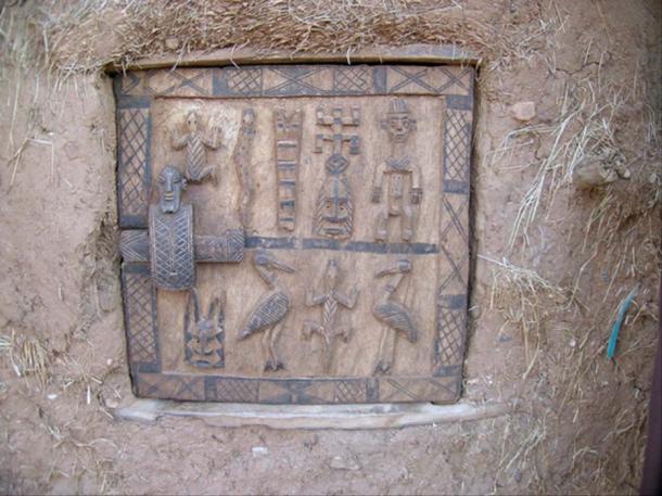 Dogon door with stylized figures (Wegmann, M/ CC BY 3.0)