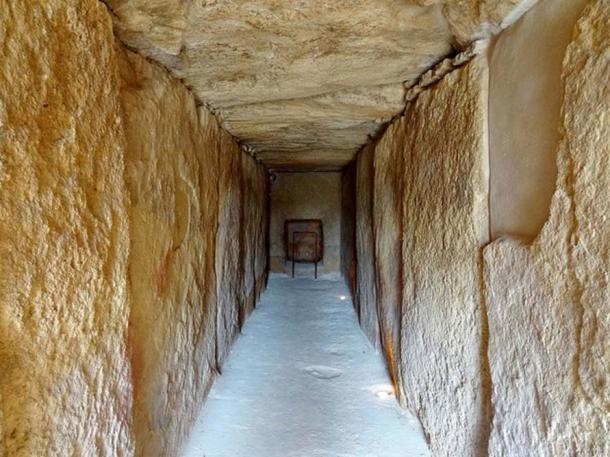 Inside the Dolmen of Viera.