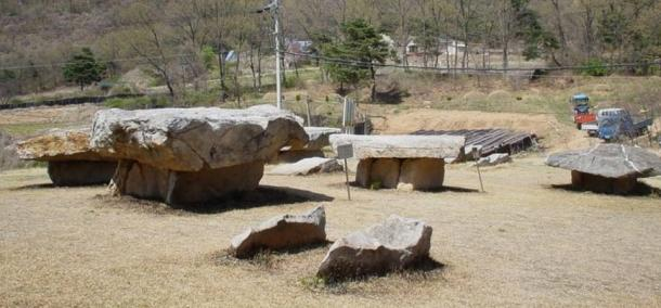 Dolmens in Osang-ri, Ganghwa Island, South Korea.