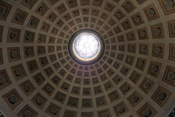 Dome of Basilica Santa Maria degli Angeli e dei Martiri, Rome, Italy