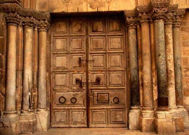 Doors to the Church of the Holy Sepulchre, Jerusalem.