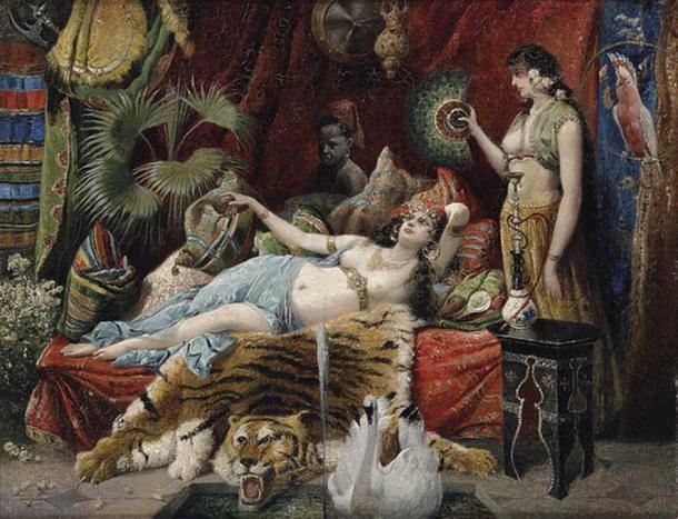 Dorotheum by Joseph Himmel, 1921. Shows the hierarchy within a harem