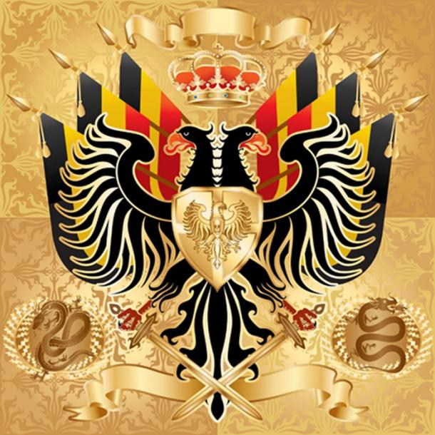 Double-Headed Eagle used for Monarchy Emblem. (davorr / Adobe)