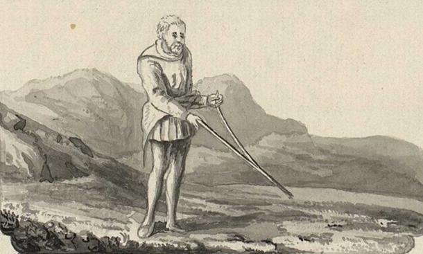 Dowsing. (Public Domain)